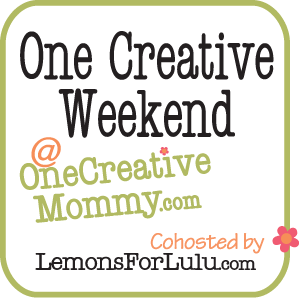 One Creative Weekend at OneCreativeMommy.com
