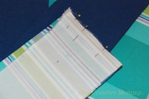 Pin the right edges together and stitch a new seam to attach the strips together.