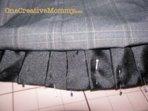 Image of smaller pleat