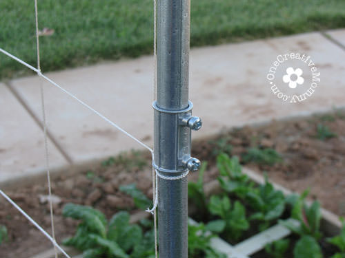 DIY Garden Trellis {Electrical Conduit Connector}