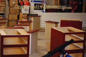 painting the pedestals and drawer fronts
