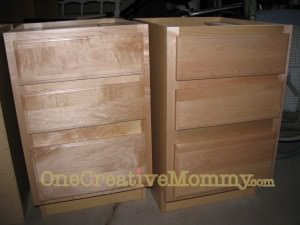 unfinished drawer pedestals