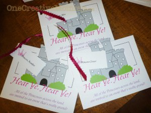 Invitations to Princess Party