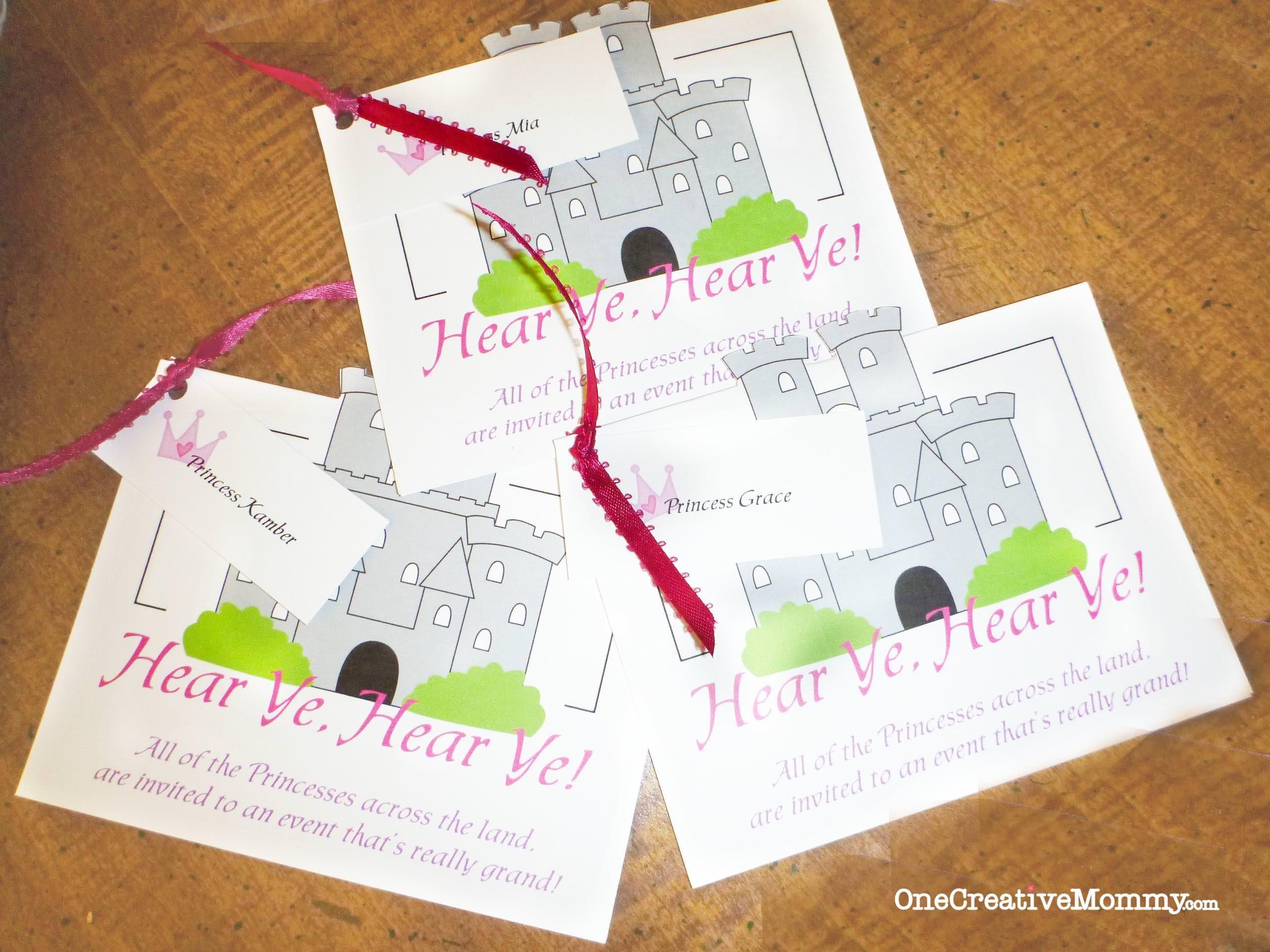 Princess Party Project Ideas and Downloads - onecreativemommy.com