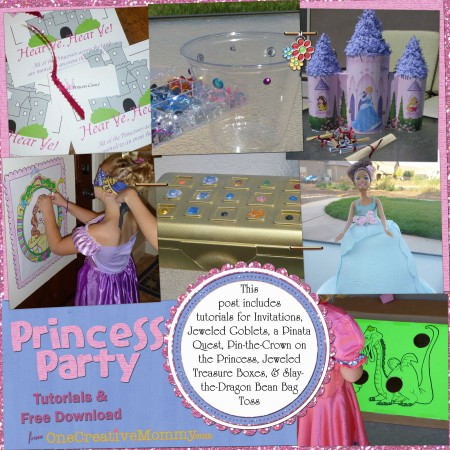 Princess Party Tutorials collage