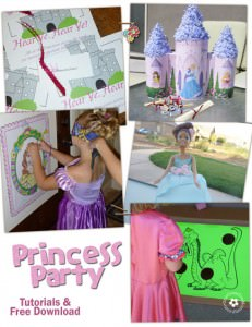 Princess Party Project Ideas and Downloads