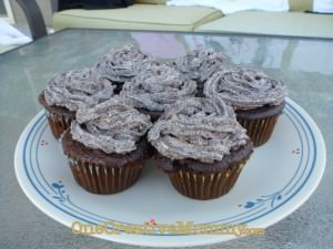 Oreo-in-the-middle Cupcakes with real cream and Oreo frosting