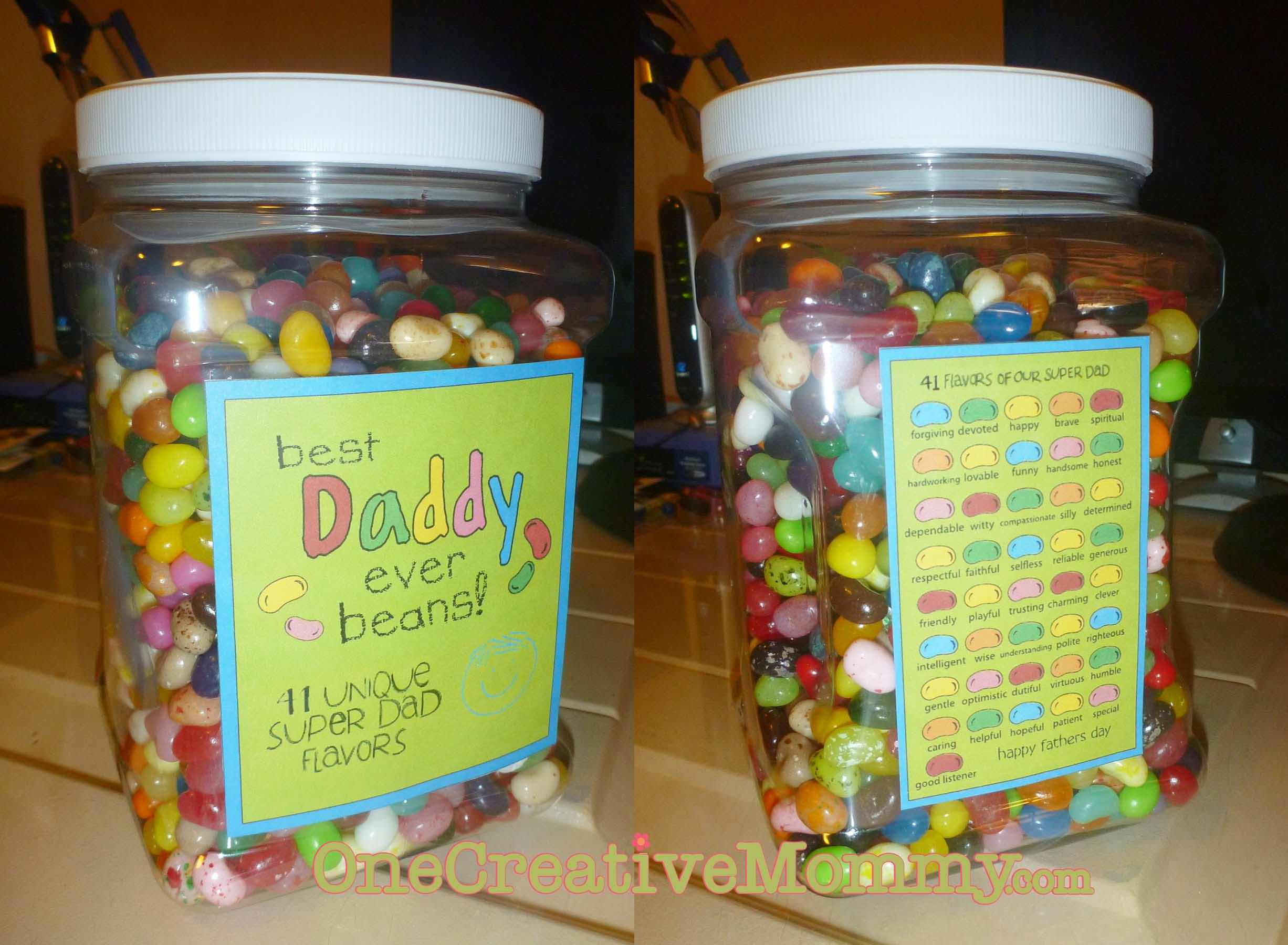 Best Dad Ever Jelly Bean Gift onecreativemommy