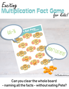 Don't Eat Pete Multiplication Game