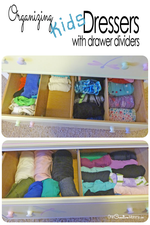 Organizing Kids Drawers With Dividers Onecreativemommy Com