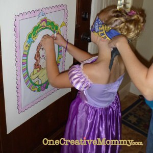 Pin the crown on the princess game