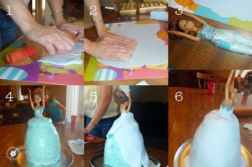 Step-by-step tutorial to build a Princess Cake {OneCreativeMommy.com}
