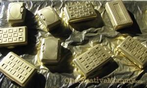spray boxes gold