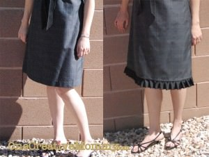 Before and After Skirt