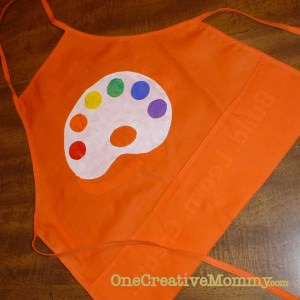 Final freezer paper art apron