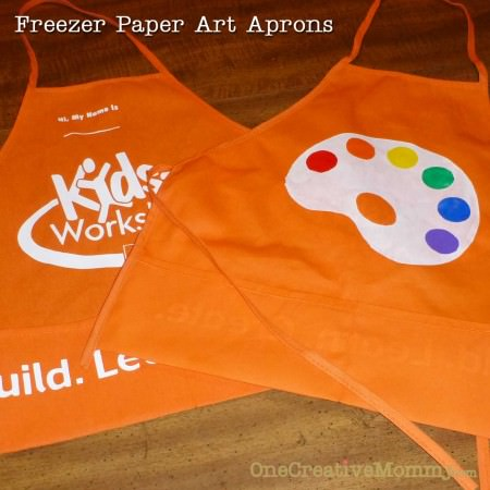 Freezer Paper Art Apron Before and After