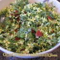Summer Brocolli Salad with Brocolli Flowers