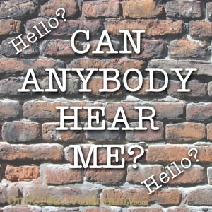 Do you ever feel like you're talking to a brick wall?