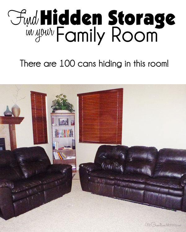 Does your home feel tiny? Check out how to find hidden storage in your home!{OneCreativeMommy.com} Small Space Living Storage Ideas
