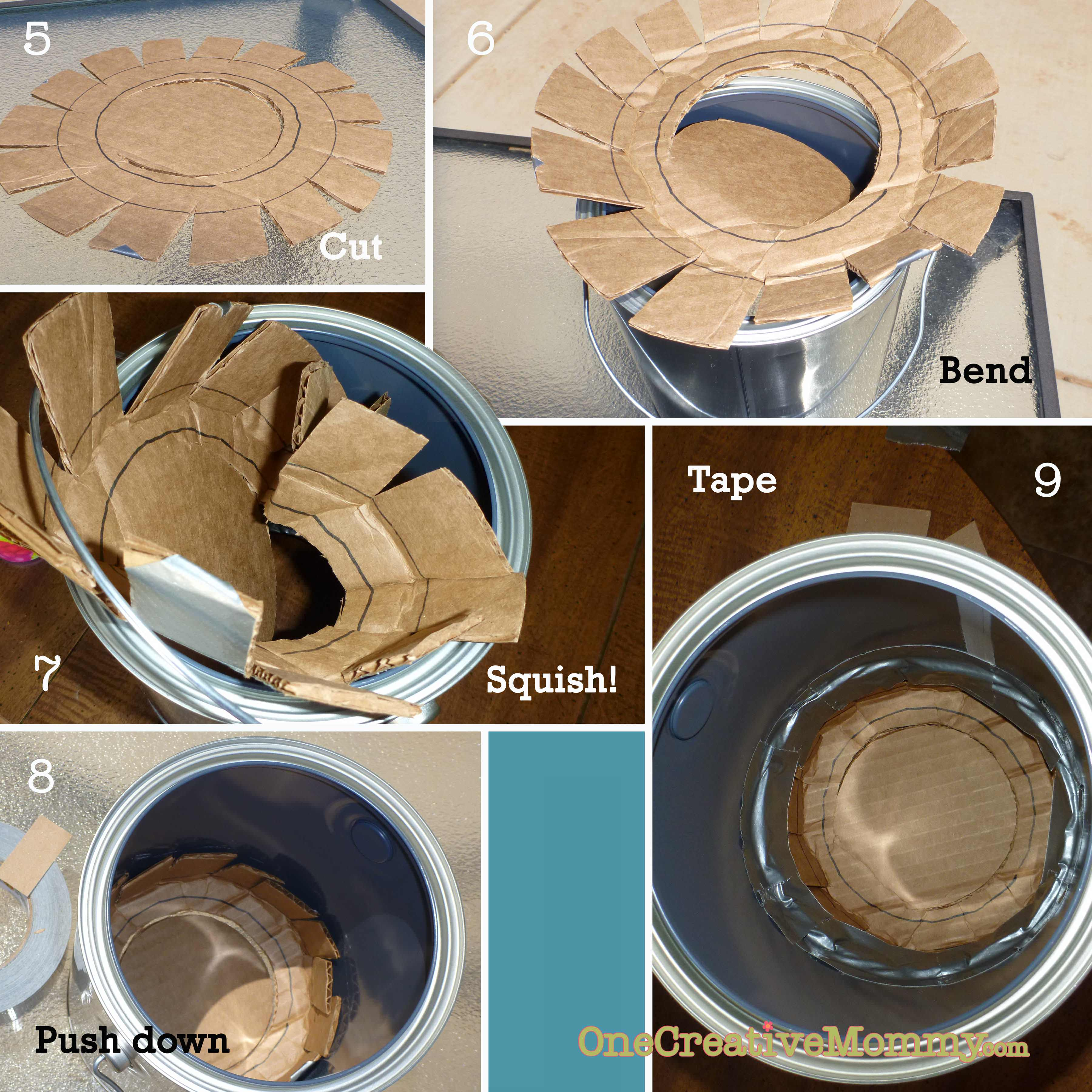 pull string paint can piñata tutorial