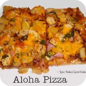 Aloha Pizza from Love Bakes Good Cakes