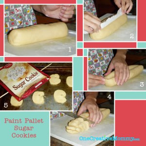 Paint Pallet Sugar Cookie Instructions