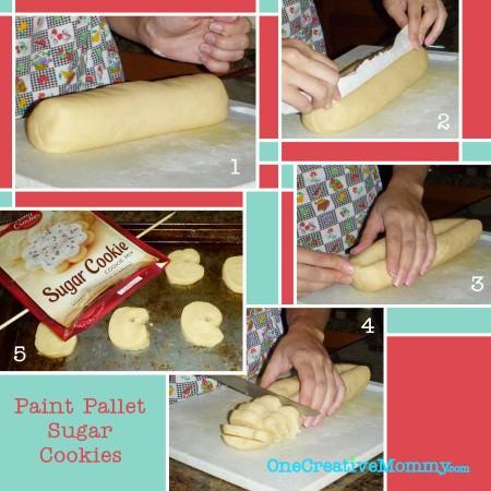 Paint Pallet Sugar Cookie Instructions