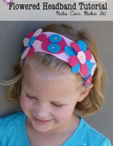 Easy Flowered Headband Tutorial for Kids