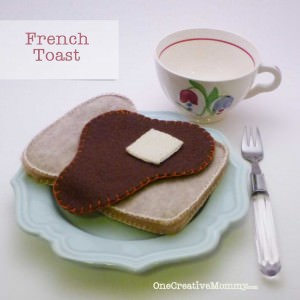 Felt Food French Toast from OneCreativeMommy.com