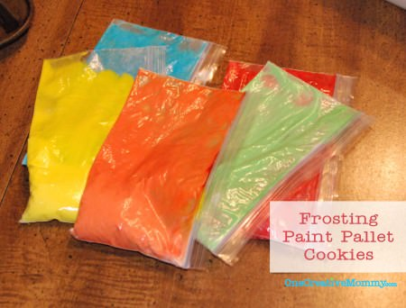 Frosting for Paint Pallet Sugar Cookies