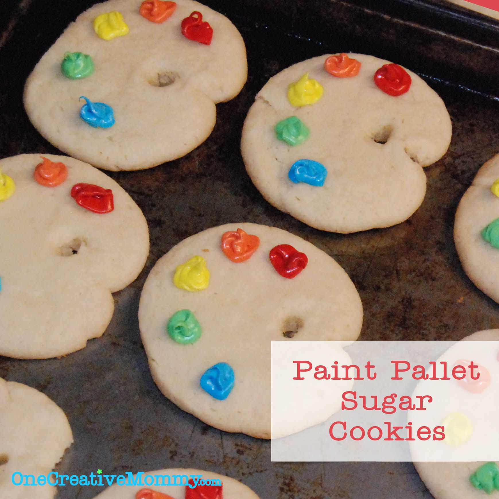 Paint Pallet Sugar Cookies Tutorial