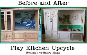 Play Kitchen Upcycle from Mommy's Ordinary Magic