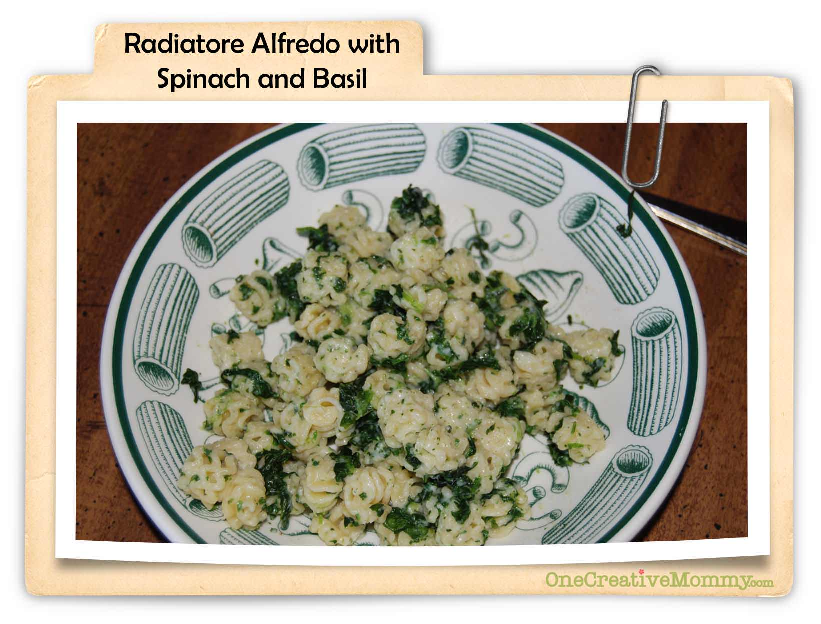 Radiatore alfredo with spinach and basil for Radiatore arredo