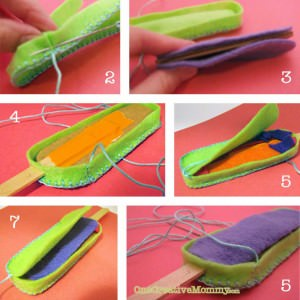 #Felt Popsicle #Tutorial and Free Patterns {OneCreativeMommy.com}