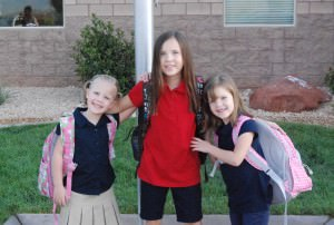 All three at school together!