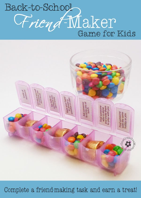 Back to School Friend-Maker Game--7 challenges to help kids make friends at school {OneCreativeMommy.com} #backtoschool