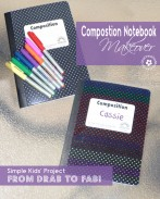Drab notebook + Sharpie Markers and Imagination = A Fab Notebook Makeover! {Project idea from my kiddo!} OneCreativeMommy.com