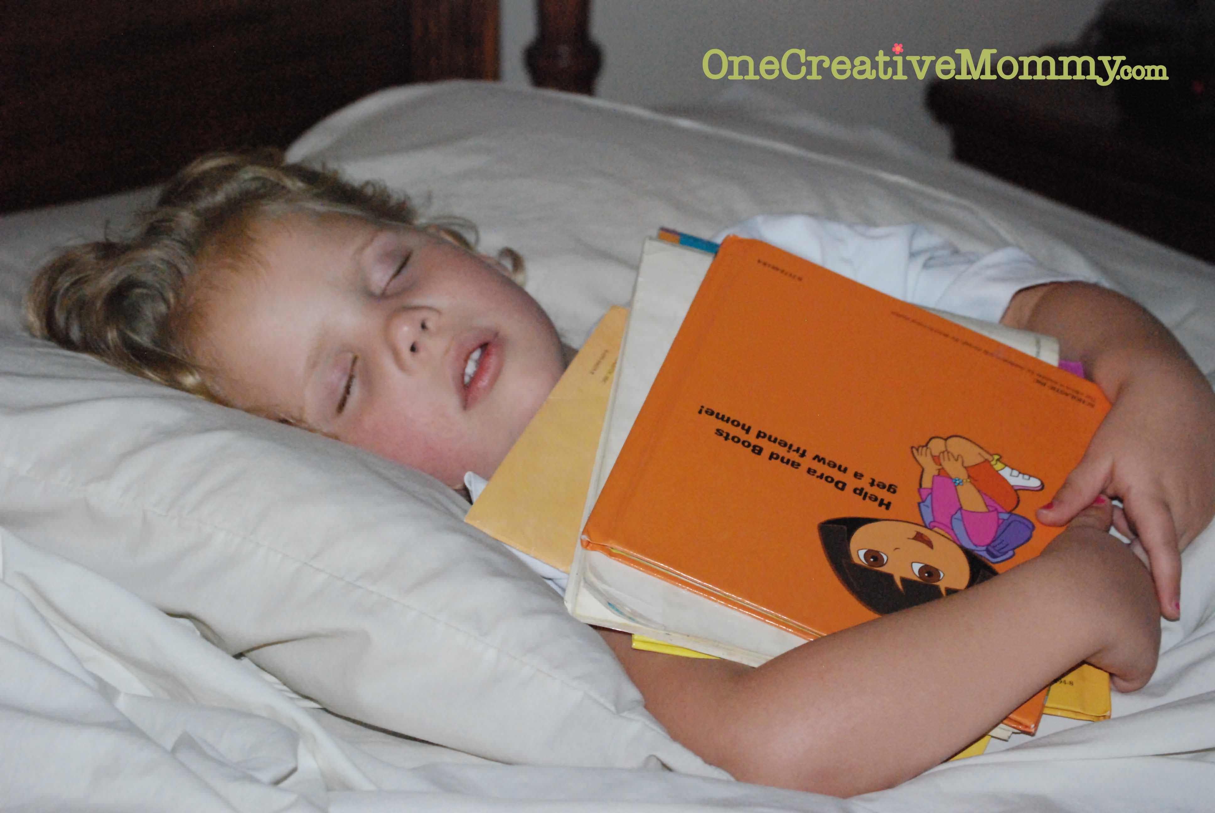 Books instead of a teddy bear!