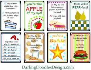 Lunchbox Love Notes from Darling Doodles