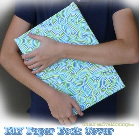 DIY Paper Book Cover Tutorial
