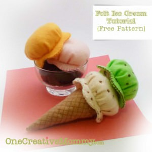 Felt Food Ice Cream Tutorial and Free Pattern