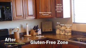 Kitchen Prep Area Gluten-Free Zone
