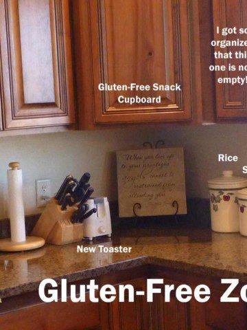 Kitchen Prep Area Gluten-Free Zone