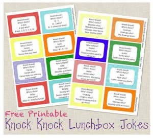 Knock-Knock Lunchbox Notes from Happy Go Lucky