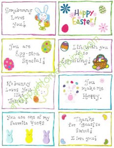 Easter Lunchbox Love Notes from Happy Home Fairy