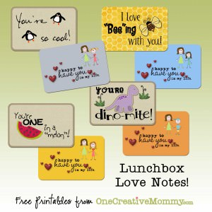 Lunchbox Love Notes from OneCreativeMommy.com