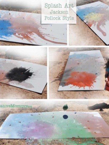 Splash Art -- OneCreativeMommy.com