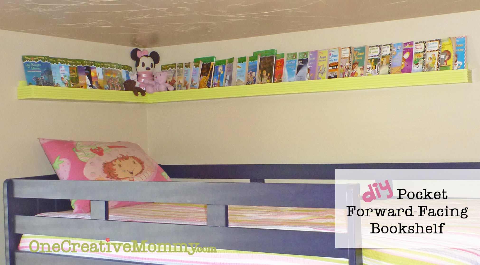 Diy Pocket Front Facing Book Shelves For Kids Onecreativemommy Com