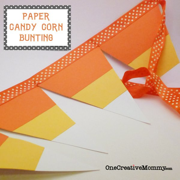 25 Candy Corn Projects to Brighten Your Day--Candy Corn Pennant Tutorial with Free Pattern