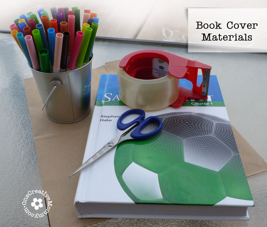 Diy Book Cover For Textbook : Diy paper book cover onecreativemommy